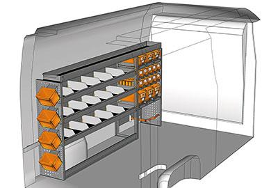 Exemples aménagement NV400 L2 H2 - H3 MA 2413 01