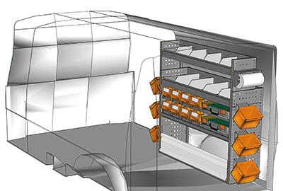 Aménagement Transporter TS 1212-08