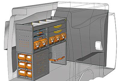 Exemple aménagements véhicules utilitaires Berlingo PA 1210 05