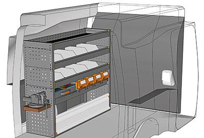 Exemple aménagements véhicules utilitaires Berlingo PA 1210 06