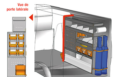 Aménagement Transporter TS 1212-06