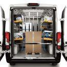 étagère rabattable pour véhicule utilitaire